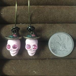 Hersey Johnson sugar skull earrings